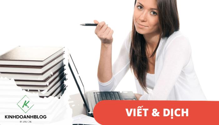 Mở dịch vụ phiên dịch hoặc viết nội dung